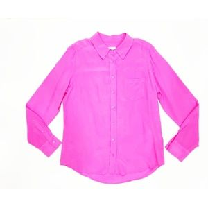 Equipment  Pink Signature Silk Blouse | Size: L
